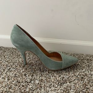 Madewell Pointy Suede Heels